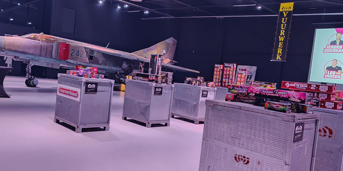 Vuurwerkdemo Wolff Vuurwerk 2019 Hangar
