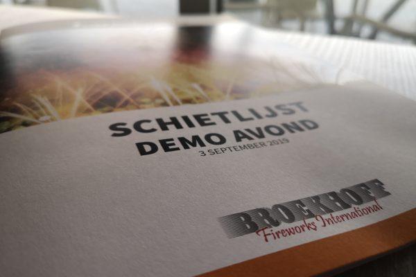 Schietlijst Demo Broekhoff Vuurwerk