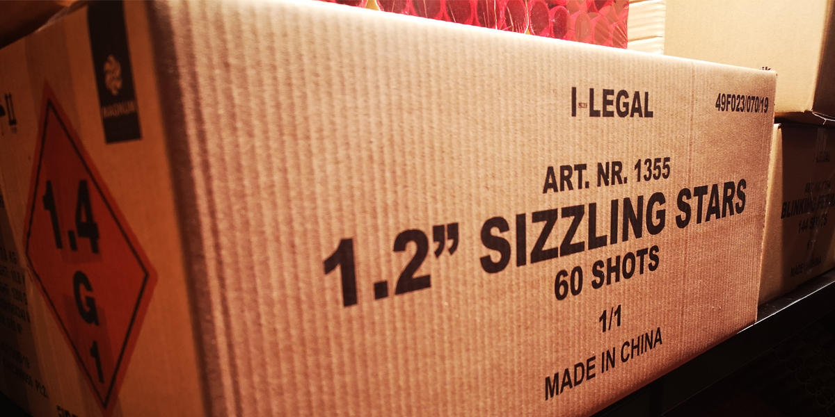 "De 1.2"" Sizzling Stars van I-Legal van Magnum Vuurwerk"